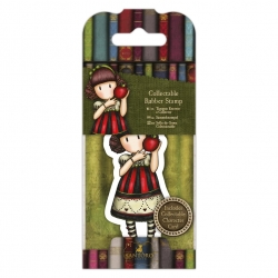Collectable Rubber Stamp - Gorjuss No. 37, Dear Apple (GOR 907417)