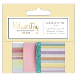Decorative Tape (4x5m) - Pastel Hues (NOT 462100)