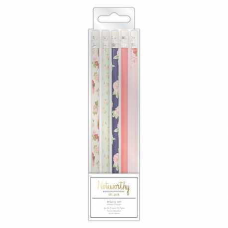 Pencil Set (5pcs) - Graphic Florals (NOT 856103)
