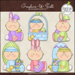 Download - Clip Art - Easter Babies