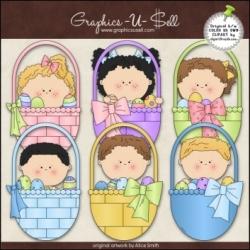 Download - Clip Art - Easter Kids