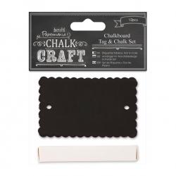 Chalkboard Tag & Chalk Set (12pcs) - Scalloped (PMA 355415)
