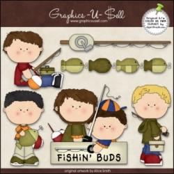 Download - Clip Art - Fishing Buddies