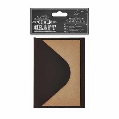 Chalkboard Mini Cards & Envelopes, 6pcs (PMA 355423)