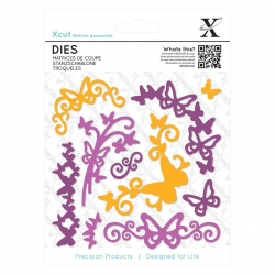 Dies (10pcs) - Butterfly Flourish (XCU 503303)