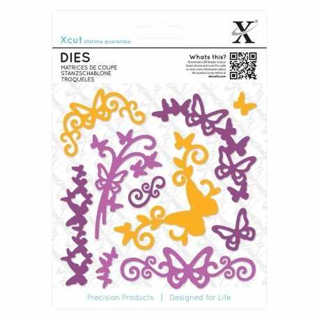 Dies (10pcs) - Butterfly Flourish (XCU 503303)