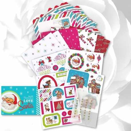 "Love Santa 4 x 4"" Card Kit (PMA DCM 099)"
