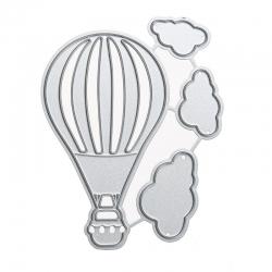 Printable Heaven dies - Hot Air Balloon & Clouds (4pcs)