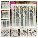 Reusable Stencil - Natural Assortment (8pcs)