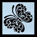13 x 13cm Reusable Stencil - Large Butterfly (1pc)