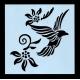 Reusable Stencil - Flying Bird & Flowers (1pc)