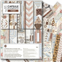 A4 Ultimate Die-cut & Paper Pack (48pk) - Elements Wood (PMA