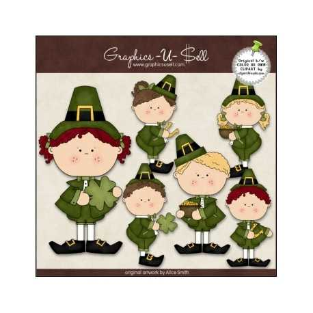 Download - Clip Art - St Patricks Day Kids