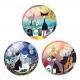 Glass Cabochons - Picasso Cats (10pcs)