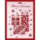 Large Plastic Stencil - Merry Christmas Presents (1pc)