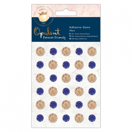 Adhesive Gems (30pcs) - Forever Friends Opulent, Navy & Copper