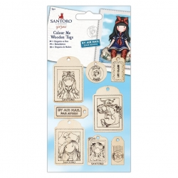 Colour Me Wooden Tags - Gorjuss (GOR 356106)