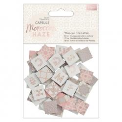 Wooden Tile Letters (50pcs) - Moroccan Haze (PMA 174596)