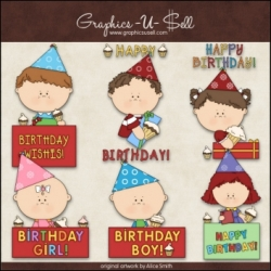 Download - Clip Art - Birthday Greetings
