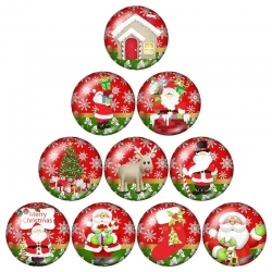 Mini Glass Cabochons - Christmas (10pcs)