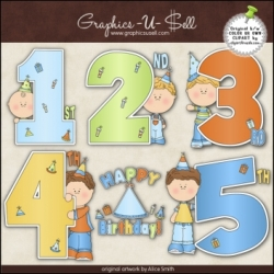 Download - Clip Art - Birthday Years Boys