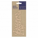 Wooden Sentiments (3pcs) - Adventure Discover Life (PMA 174690)