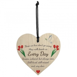 Wooden sign - Those We Love Don't Go Away (1pc)