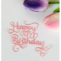 Printable Heaven die - Swirl Happy Birthday (1pc)