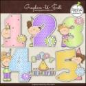 Download - Clip Art - Birthday Years Girls