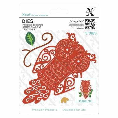 Dies (5pcs) - Filigree Owl (XCU 503430)