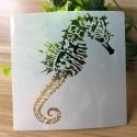 13 x 13cm Reusable Stencil - Seahorse (1pc)