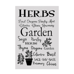 Large Plastic Stencil - Herbs (1pc)