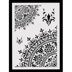 Large Plastic Stencil - Lace Mandala Corners (1pc)