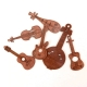 Wooden Musical Instruments (24pcs)
