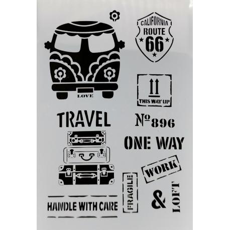 Large Plastic Stencil - Camper Van (1pc)