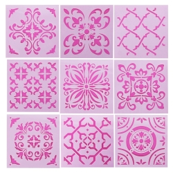 Medium Reusable Stencil 9 pack - Tiles (9pcs)