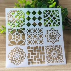 Reusable Stencil - Small Moroccan Tiles (1pc)