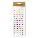 Adhesive Jewels - Coloured Stars & White Pearls (U-80927)