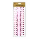 Adhesive Jewels - Cerise Gems & White Pearls (U-80927)