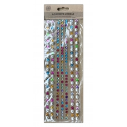 Adhesive Jewels - Coloured Flowers, Round Gems & White Pearls