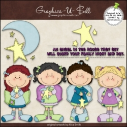 Download - Clip Art - Goodnight Angels