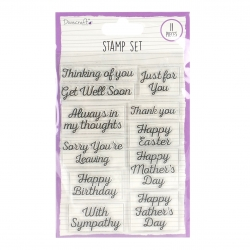 Clear Stamp Set - Dovecraft Essential Occasions, 11pcs (DCBS186)