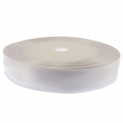 15mm Wide Satin Ribbon - White (25 yards)
