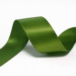 15mm Wide Satin Ribbon - Christmas Green (25 yards)