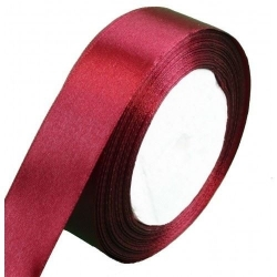 15mm Wide Satin Ribbon - Burgundy (25 yards)