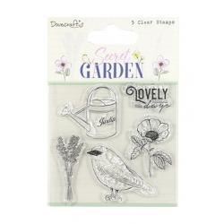Dovecraft Secret Garden Clear Stamp Set (DCSTP181)