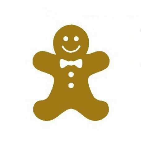 Printable Heaven die - Gingerbread Man (1pc)