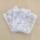 Snowflake Organza Bags, Silver (5pcs)