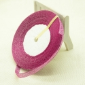 Metallic Ribbon - 7mm Fuchsia Pink (22.86 metres)