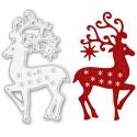 Printable Heaven die - Reindeer with Stars (1pc)
